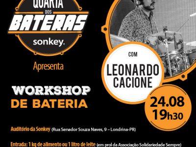 Quarta dos Bateras com Leonardo Cacione