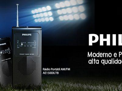 Rádio Portátil com Alto-falante Interno AM/FM AE1500X/78 Preto PHILIPS