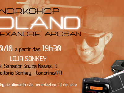 Workshop com Alexandre Aposan!